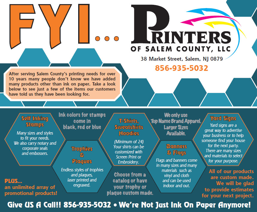 Printers of Salem County New Jersey| Affordable Printing for ...